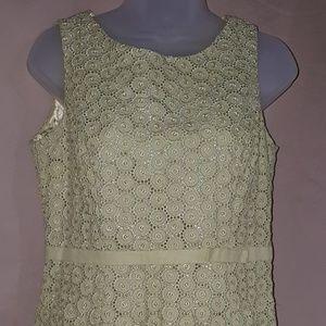 Dressbarn Women's Mint Lace Top Size 6